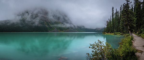Lake Louise and Fairview Mountain Panorama by Andy Konieczny